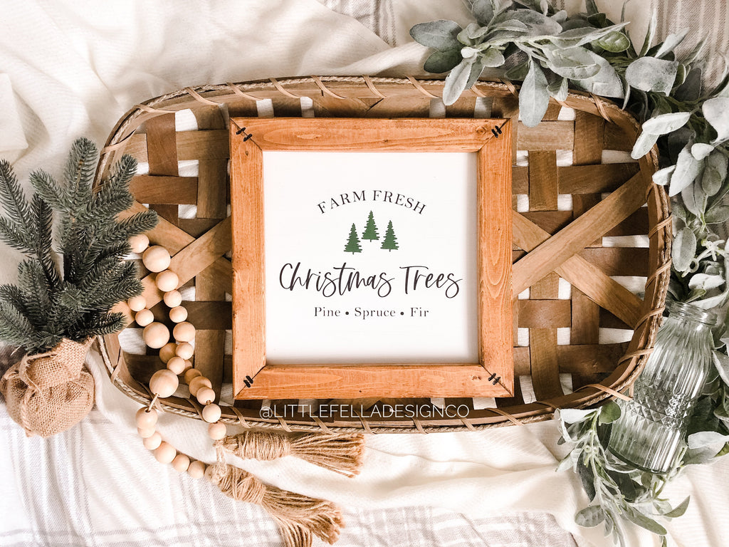 Farm Fresh Christmas Trees Wood Sign, Christmas Sign, Farmhouse Christmas, Christmas Decor