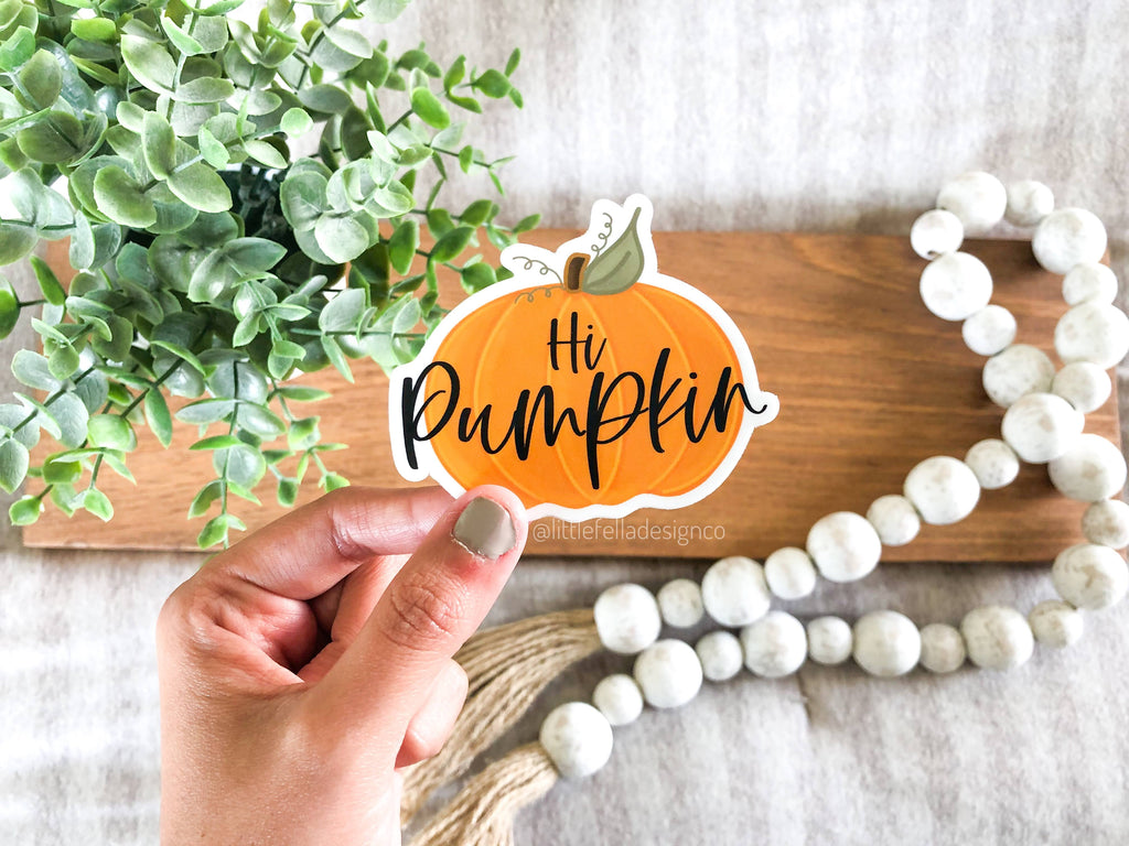 Hi Pumpkin 3x3in Sticker