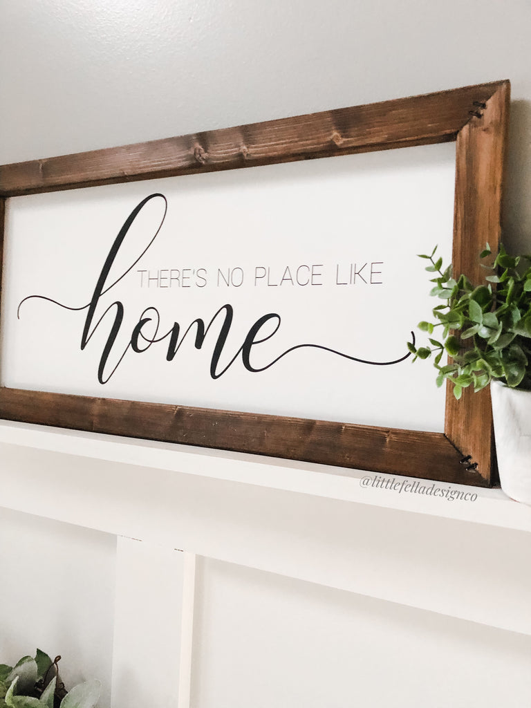 There Is No Place Like Home Wood Sign, Housewarming gift, Farmhouse Sign