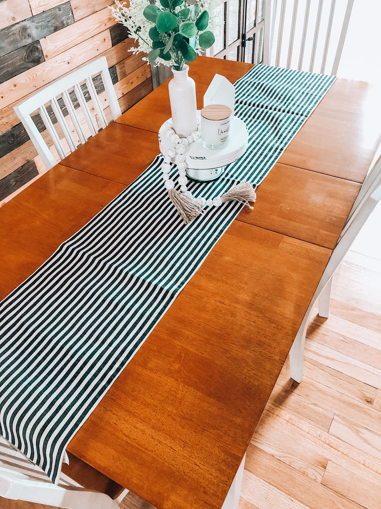 "72"" Cotton Striped Table Runner"