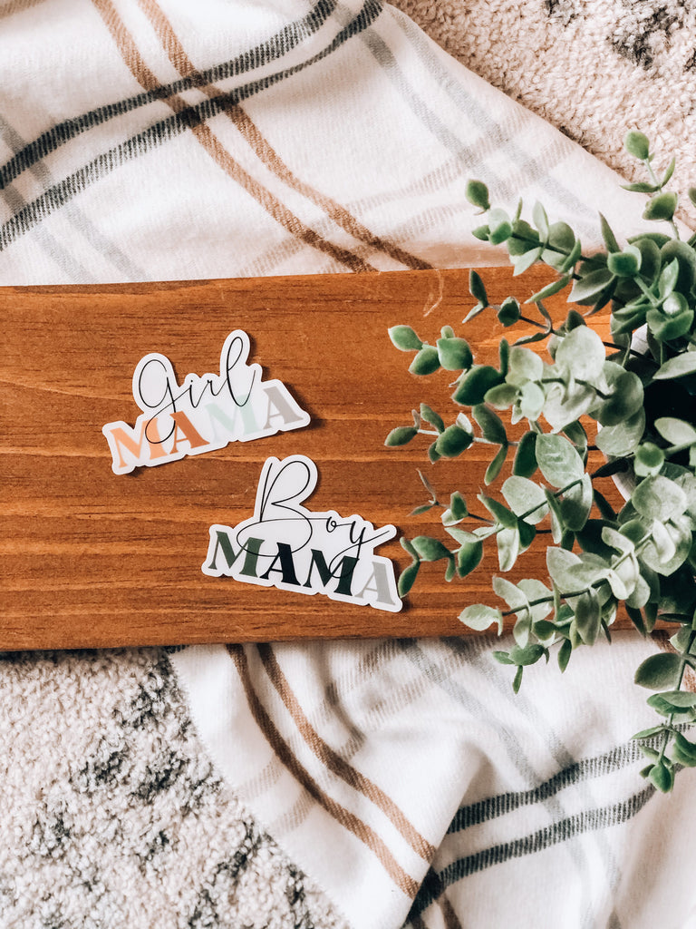 Clear Girl Mama 2x3in Sticker