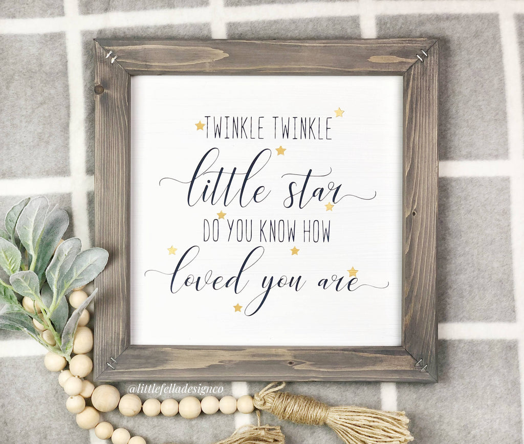 Twinkle Twinkle Little Star Sign, Nursery Sign, Adventure Theme Sign,  Adventure Awaits sign