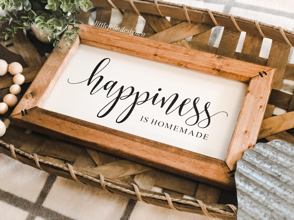 Happiness Is Homemade Sign, Kitchen Decor, Farmhouse Style Wood Sign