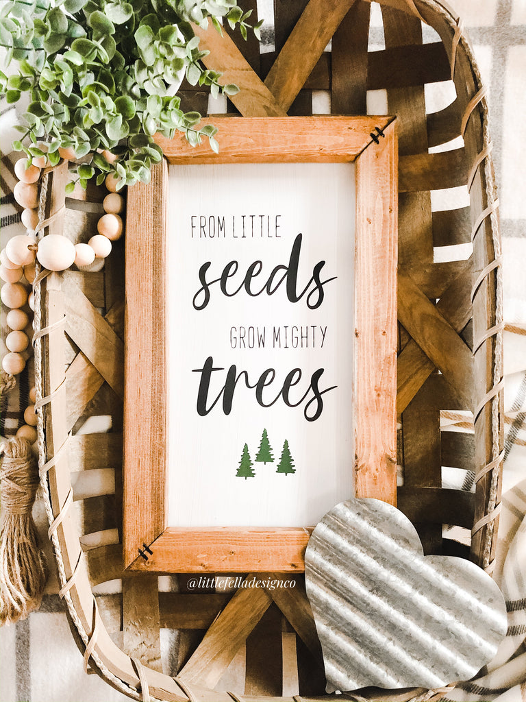 From Little Seeds Grow Mighty Trees Nursery Sign, Nursery Decor