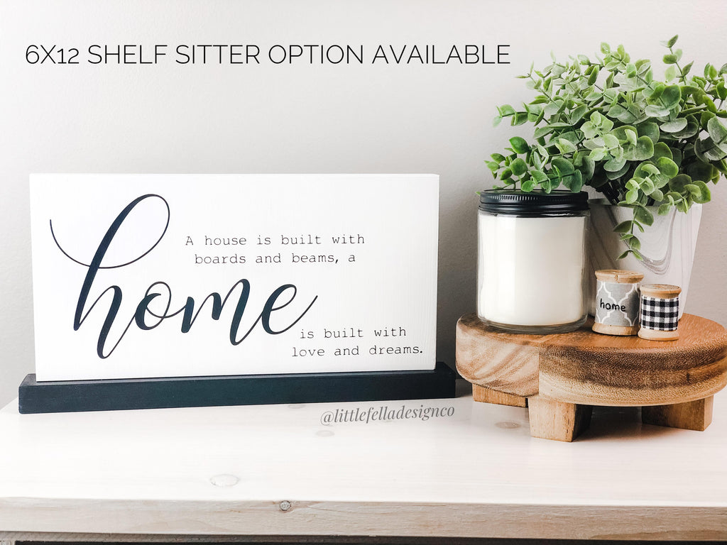 Home Is Where Our Story Begins Wood Sign, Housewarming gift, Farmhouse Sign
