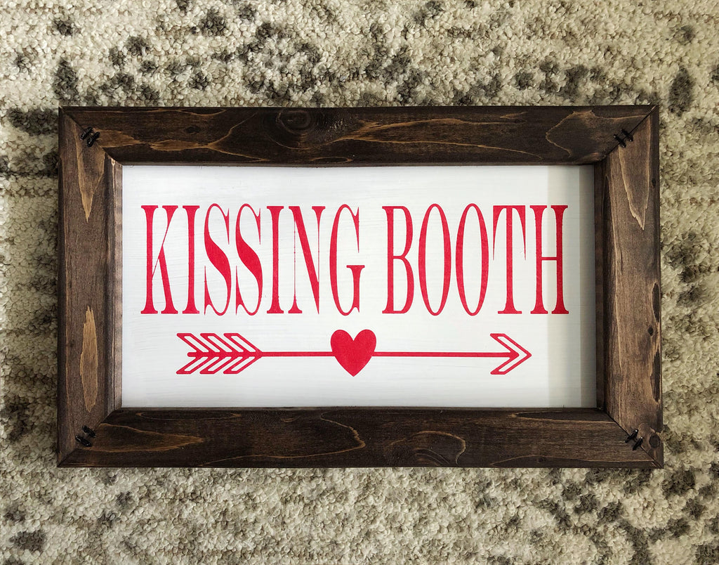 Kissing Booth Sign, Valentine's Day Decor, Be My Valentine Sign, Valentine's Day Sign