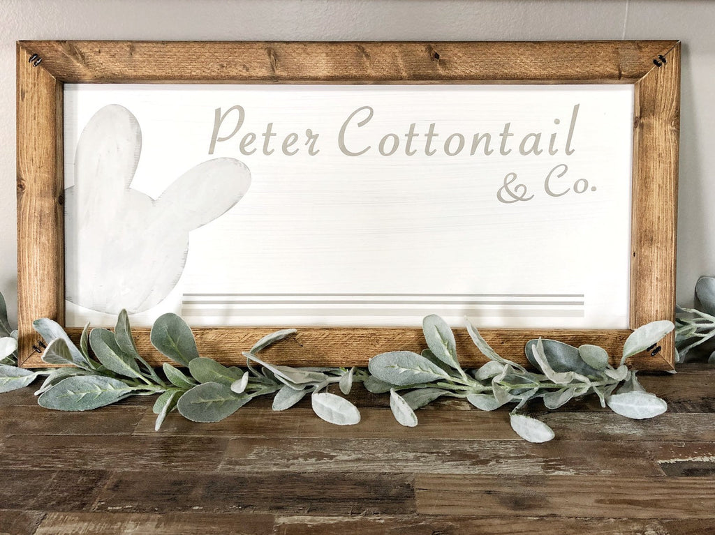 Peter Cottontail Easter Sign, Spring Decor, Easter Decor, Easter Bunny Sign