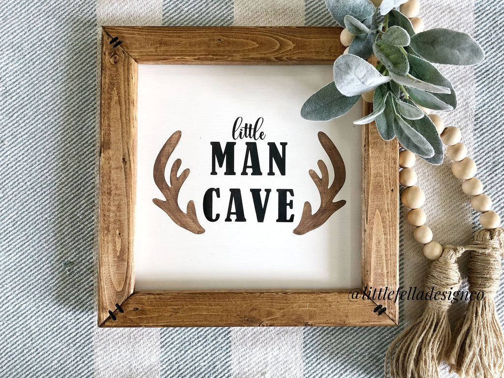 Little Man Cave Nursery Sign, Baby Shower Gift, Nursery Sign, Baby's First Birthday