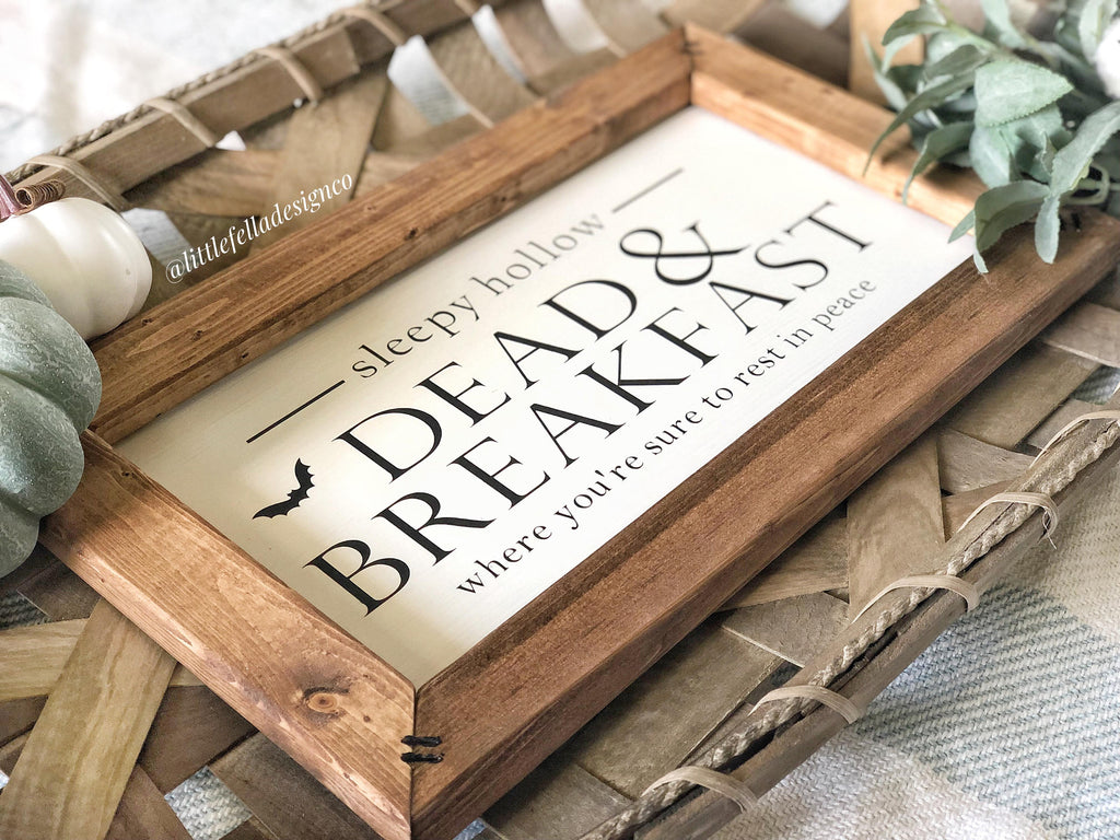 Dead and Breakfast Sign, Halloween Sign, Halloween Decor, Fall Wood Sign