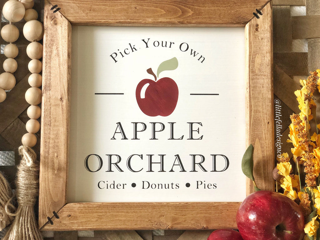 Apple Orchard Sign, Pick Your Own Apples Sign, Fall Wood Sign, Fall Decor, Farm Fresh Apples
