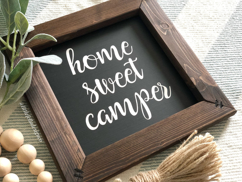 Home Sweet Camper Wood Sign, Camping, Travel, Signs for Campers, Gifts for Travelers