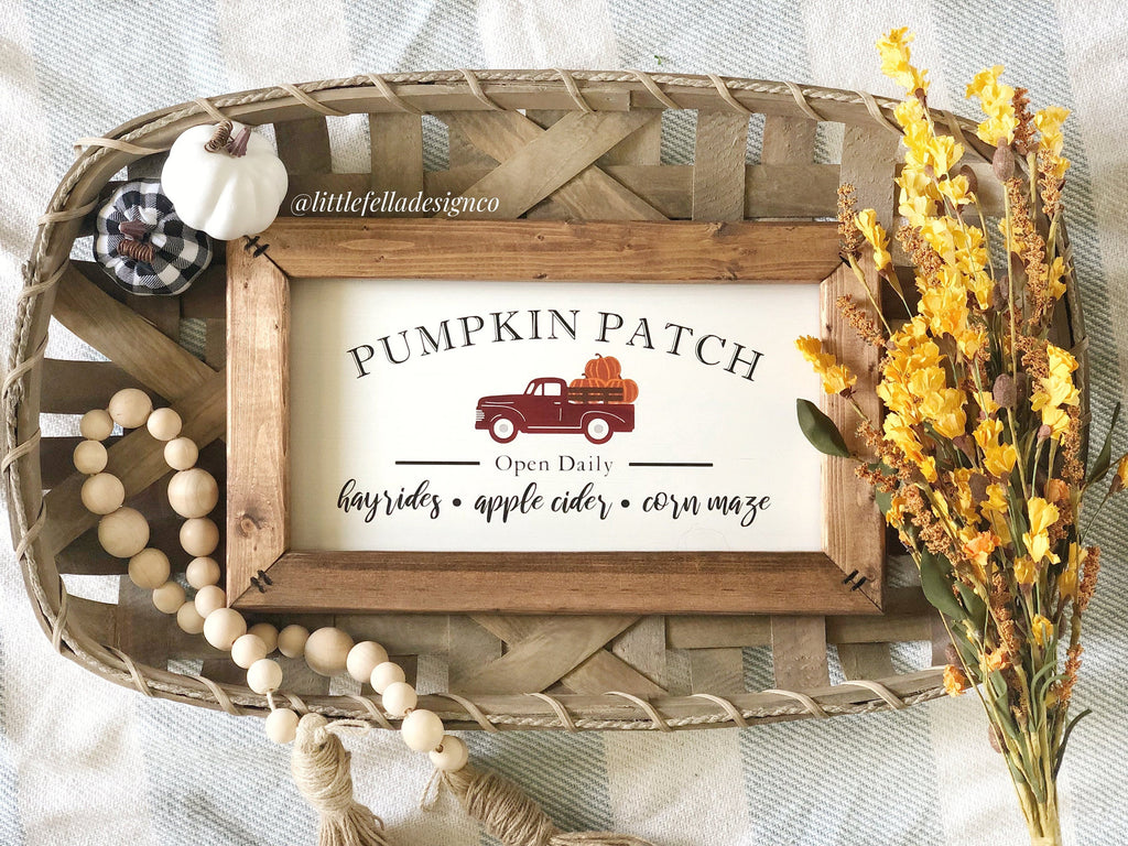 Pumpkin Patch Open Daily Sign, Pumpkin Decor, Fall Wood Sign, U Pick Pumpkins, Pumpkin Patch
