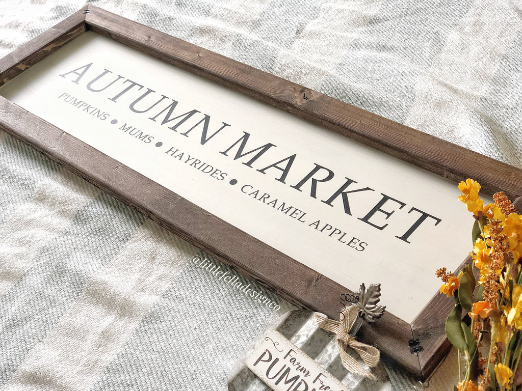 Autumn Market Sign, Fall Decor, Fall Wood Sign, Fall Market Sign, Harvest Market Sign