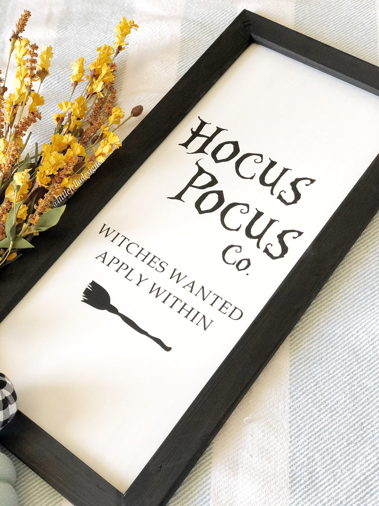 Hocus Pocus Witches Wanted Sign, Fall Decor, Fall Farmhouse Sign, Fall Wood Sign, Halloween Deco