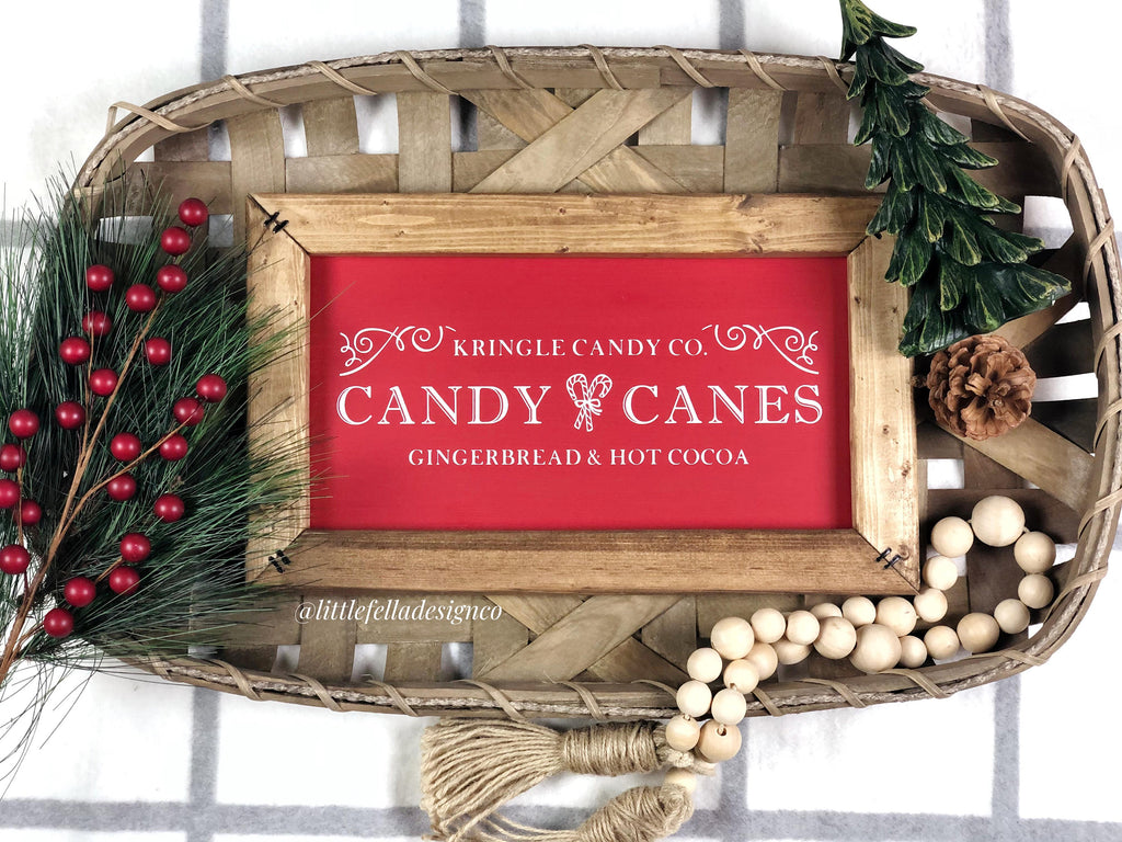 Kringle Candy Co Christmas Sign, Christmas Wood Sign, Candy Cane Sign, Christmas Gift