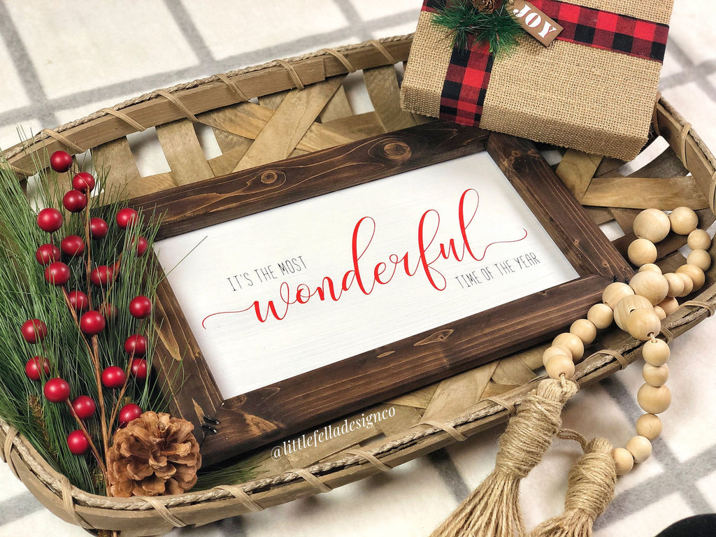 It's The Most Wonderful Time of the Year Wood Sign, Christmas Wood Sign, Christmas Gift