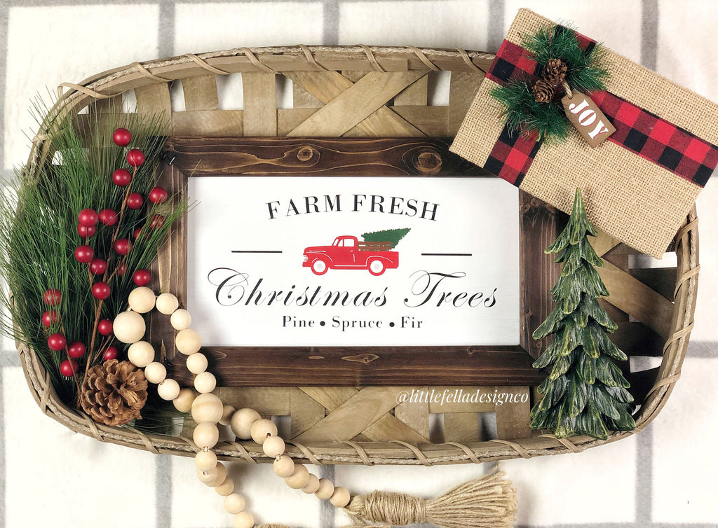 Farm Fresh Christmas Trees Wood Sign, Christmas Tree Truck Sign, Christmas Wood Sign, Christmas Gift