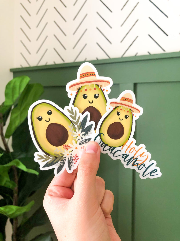 Sombrero Avocado 3x3in Sticker