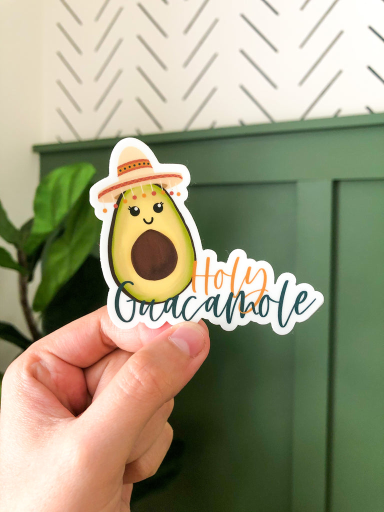 Holy Guacamole Avocado 3x3in Sticker