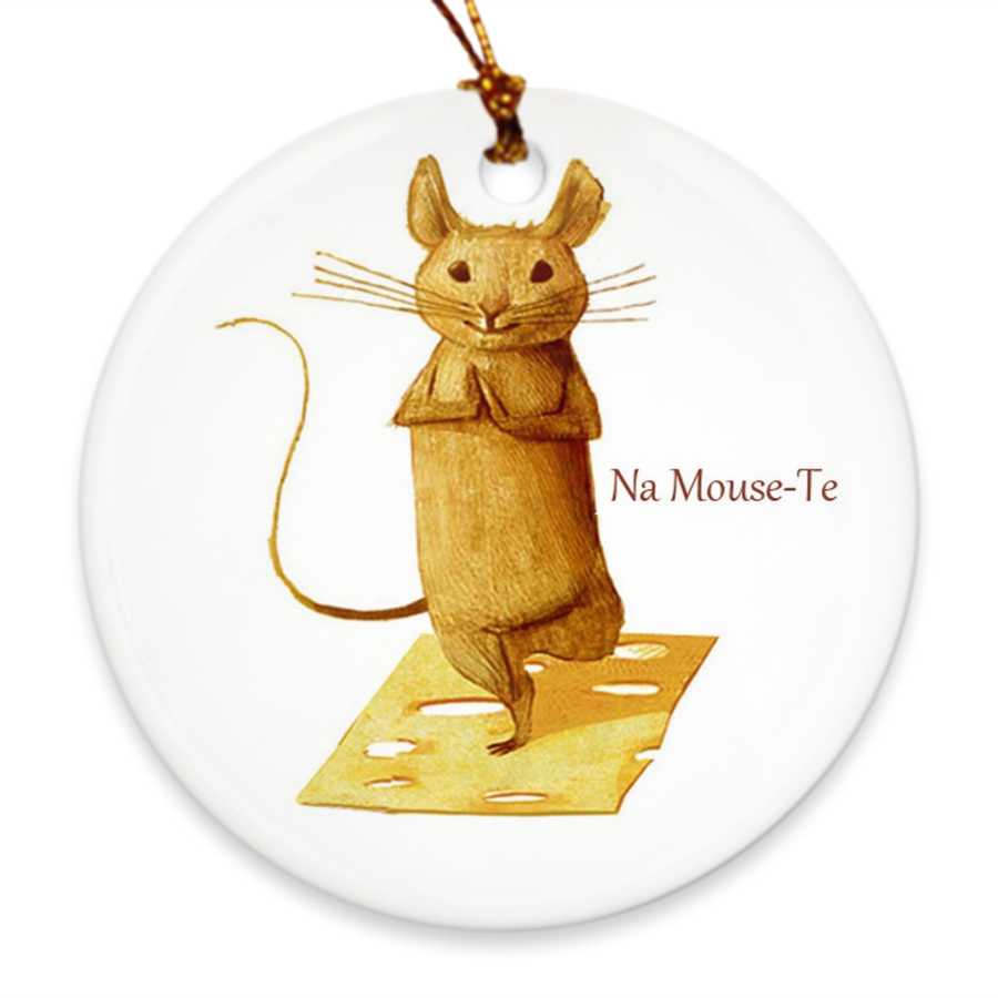 Na Mouse Te Porcelain Ornament