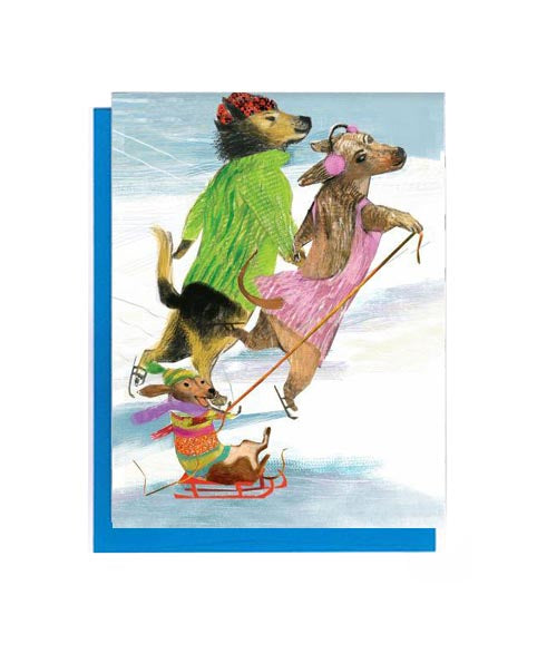 Dog Family Skate Boxed Notes - Set of 8 Cards