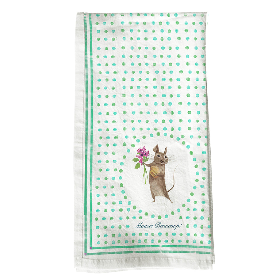 NEW - Mousie Beaucoup Tea Towel
