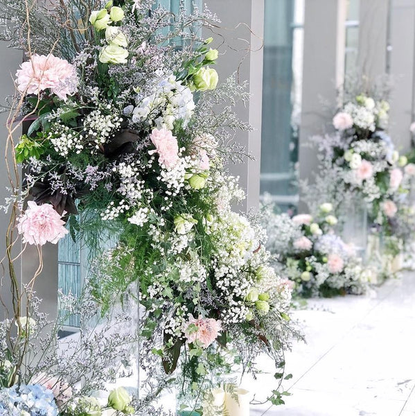 cascading arrangement for wedding