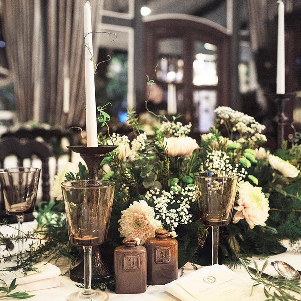 wedding tablescape arrangement