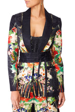 QUEEN OF KINGS BLAZER WCHIFFON CONTRAST