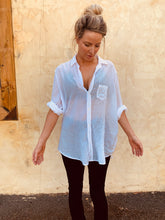 WOMENS LONG SLEEVE BUTTON DOWN - WHITE