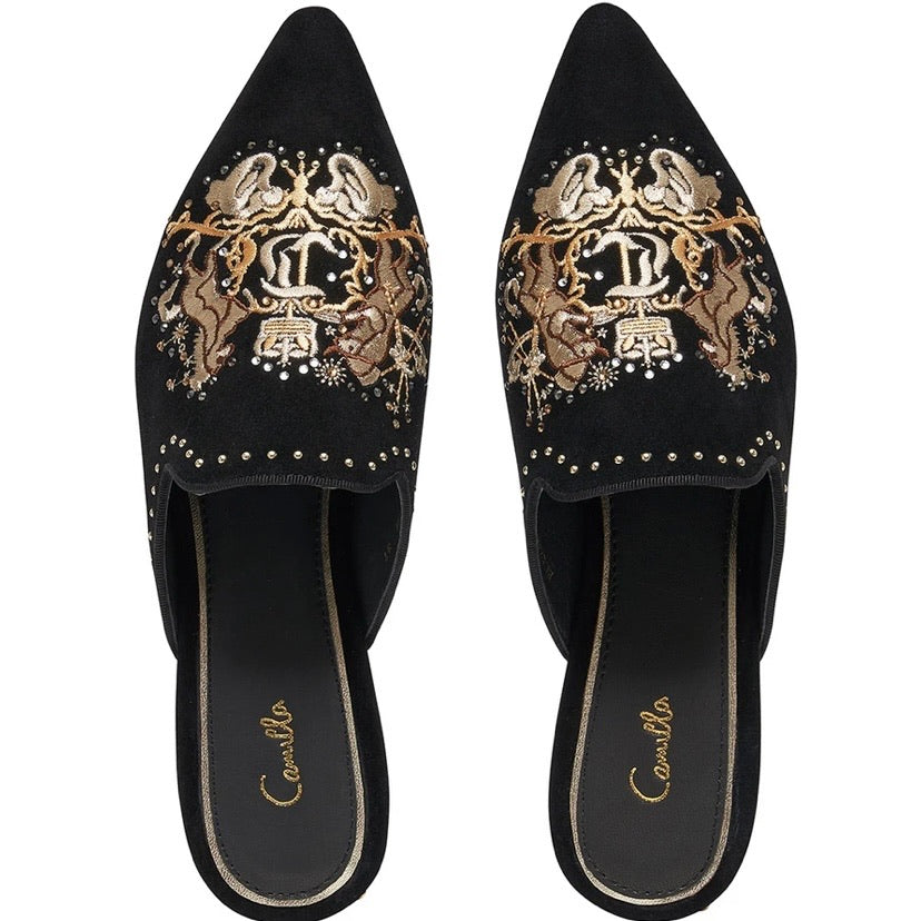 DINING HALL DARLING EMBROIDED SLIPPER