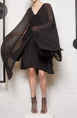 THE FELLOWSHIP CAPE DRAPE - BLACK