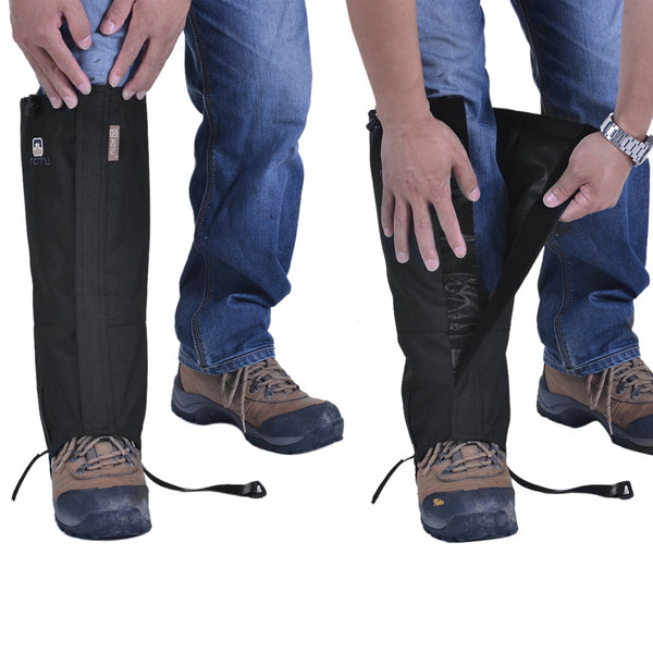 1 Pair Outdoor Hiking Gaiters Waterproof Windproof Outdoor Hiking Walking Hunting Trekking Snow Legging Gaiters