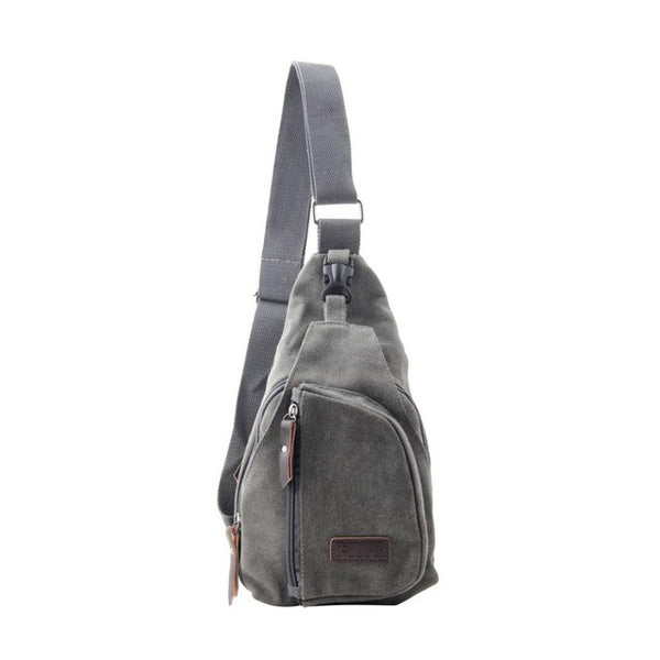 Men Small Canvas Military Messenger Shoulder Travel Hiking Bag Backpack