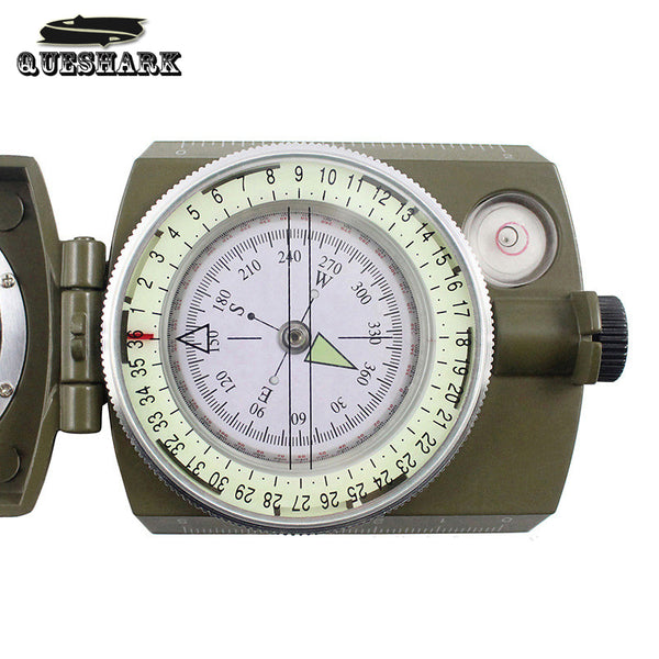 Professional Compass Military Army Geology Compass Sighting Luminous Compass for Outdoor Hiking Camping Trekking