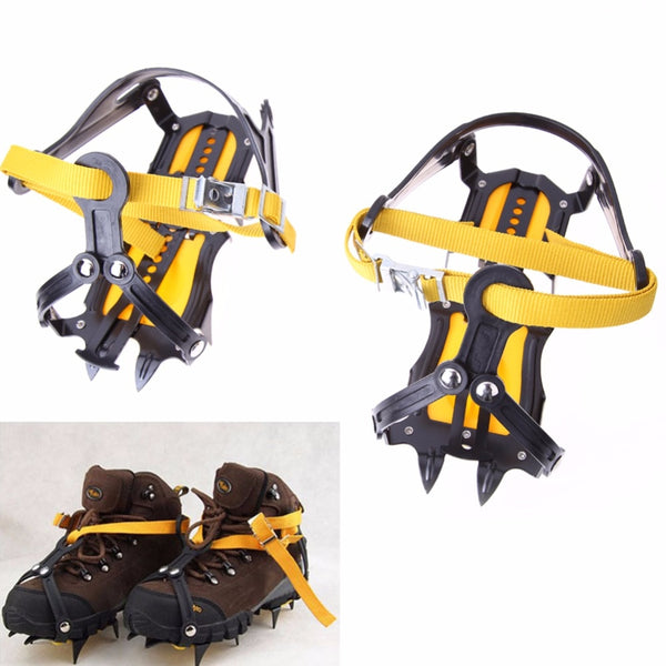 High Altitude Slip-resistant Ice Gripper Strong Ice Crampon Ski Snow Crampons Shoes Snow Walker for Climbing Trekking Ski Alpine