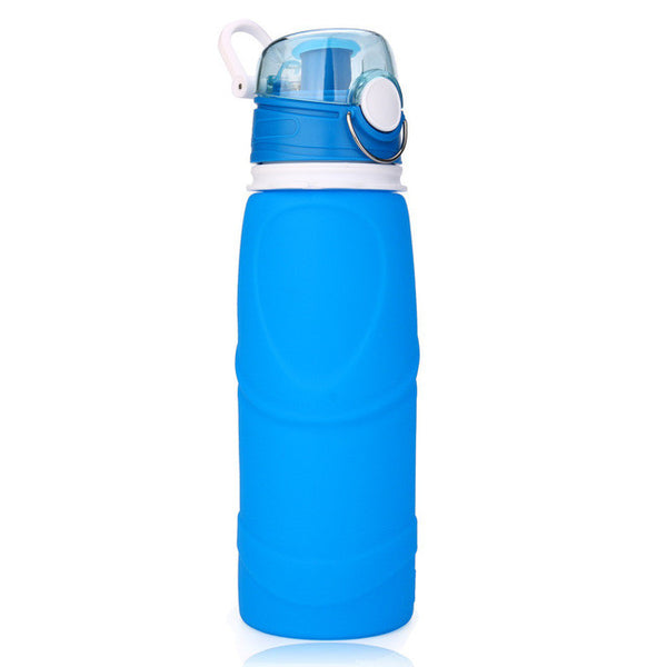 2017 Outdoor Hiking Silicone 750ml Collapsible Drink Kettle Silicone Foldable Sports Bottle #EW