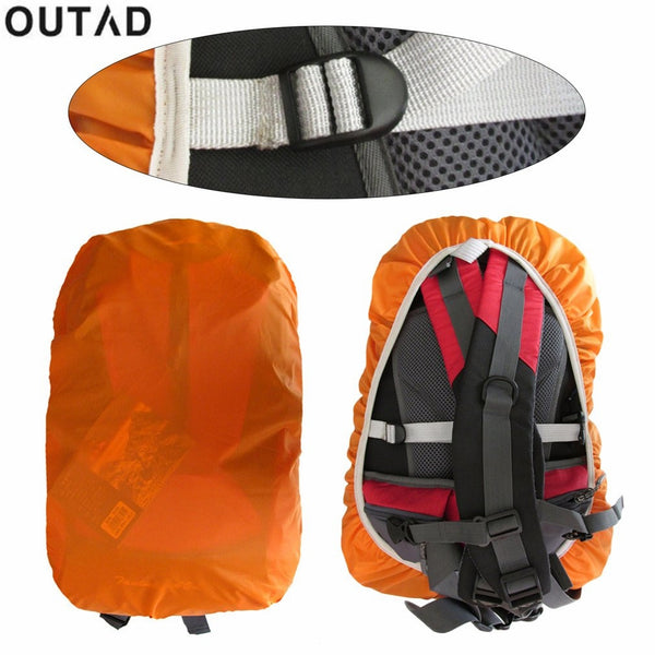 OUTAD Backpack Rain Cover Protable Waterproof Cover Anti-theft Back Pack Cover Outdoor Camping Hiking Cycling Dust Rain Cover