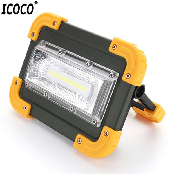 ICOCO 30W USB LED Portable Rechargeable Flood Light Spot Work Light High Brightness Camping Hiking Survival Hunting Outdoor Lamp