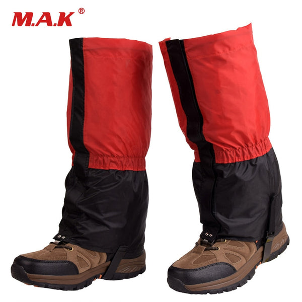1 Pair Waterproof Outdoor Hiking Walking Climbing Hunting Trekking Snow Legging Gaiters Winter Leg Protect Equipment
