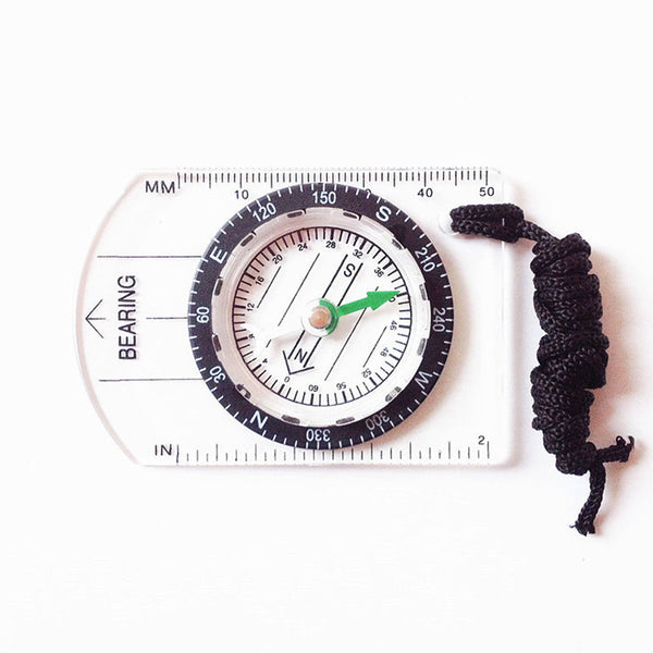 Multifunctional Outdoor Equipment Portable Compass Map Scale Ruler for Hiking Camping