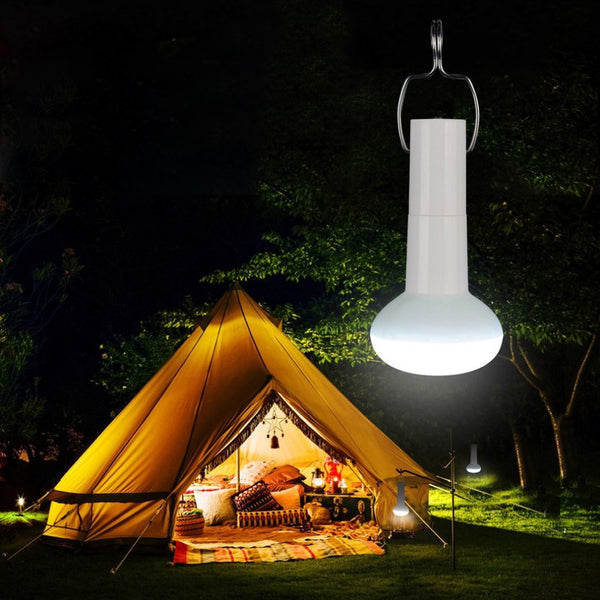 Portable Outdoor Super Bright LED Camping Light USB Charging Solar Hiking Emergency Lamp Flashlight Handy Hook Tent Flashlight