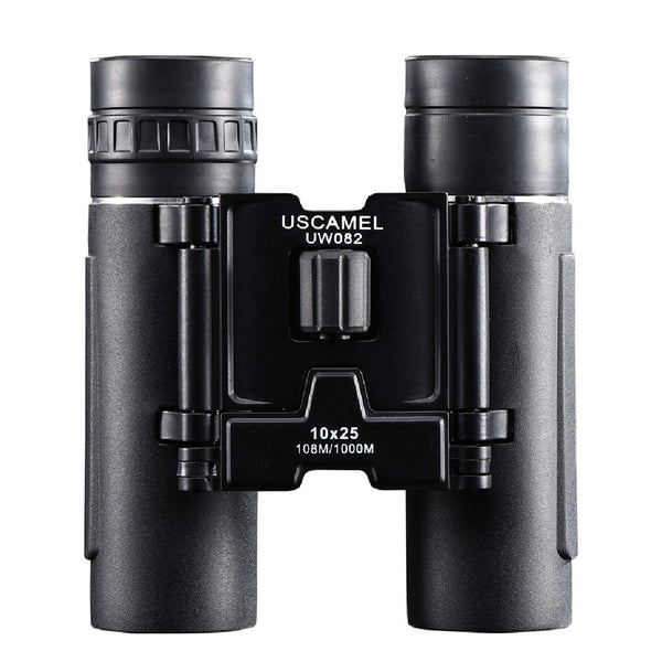 10x 25mm Portable Compact Binoculars Pocket Folding Binoculars with FMC Green Flim for Hiking Travelling