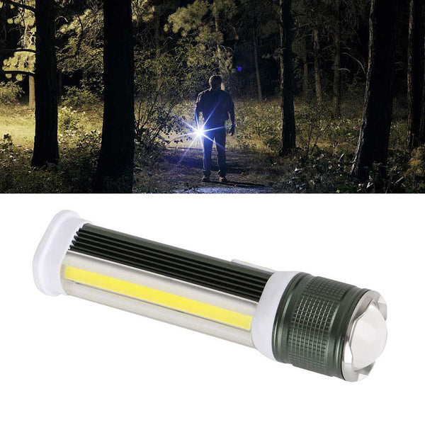 USB Waterproof LED Flashlight Camping Hunting Cycling Hiking Headlight Accessory