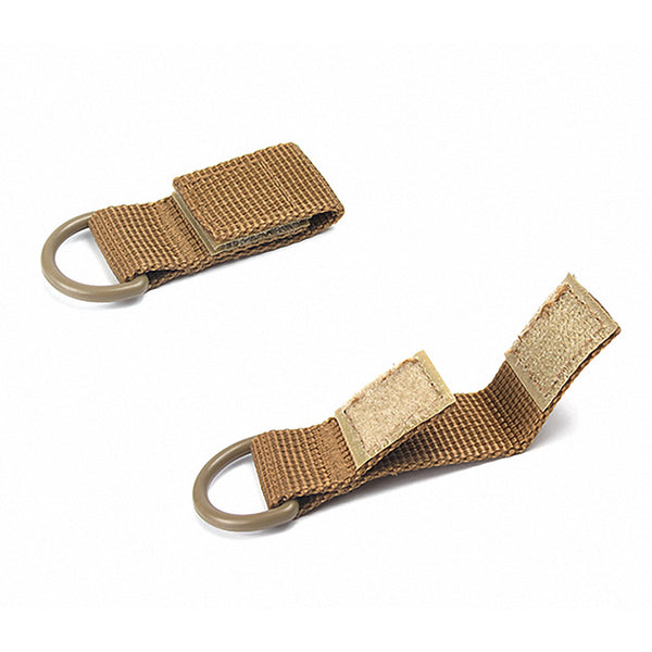 Portable Outdoor Hiking Molle Webbing Belt D-Ring Camping Backpack Keychain Buckle Hook Clasp Carabiners