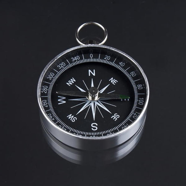 1pc Pocket Mini Camping Hiking Compasses Lightweight Aluminum Outdoor Travel Compass Navigation Wild Survival Tool Black