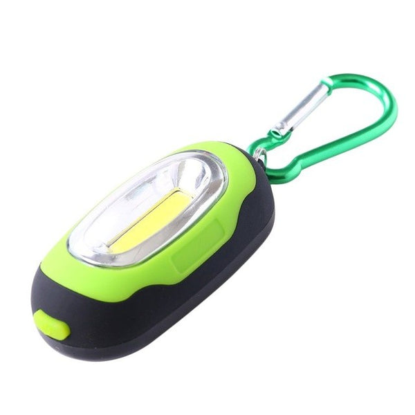 Portable 3 Modes Hiking COB Flashlight Mini Torch Light Keychain LED Flashlight Outdoor Camping Hiking Keychain Lamp