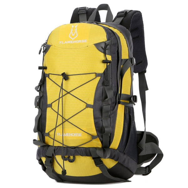 Practical Large Capacity Outdoor Sports Mountaineering Backpack Hiking Camping Trekking Shoulder Bags Zipper Water Resistance
