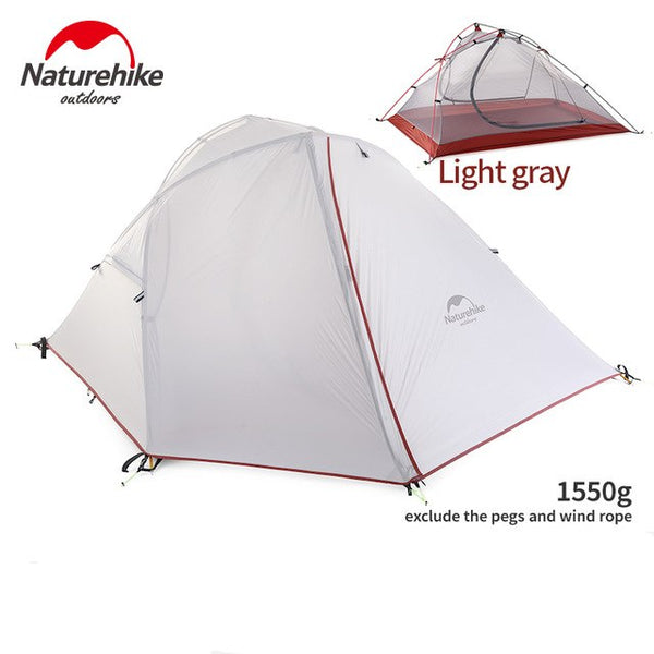Naturehike  NH16S012-S 20D/210T Nylon Backpacking Tent Trekking Camping Canopy Travel 3 Season Silicone Coated Double Layer