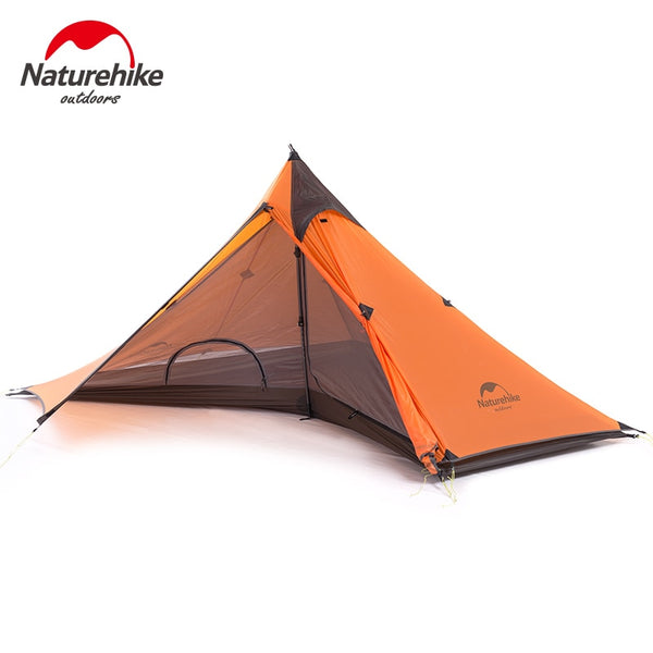 Naturehike NH17T030-L 20D Nylon Single Person One Man Backpacking Tent Trekking Camping Canopy Travel 3 Season Silicone Coated
